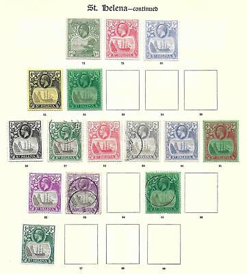 St Helena stamps 1922 Collection of 15 stamps HIGH VALUE!