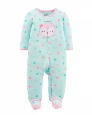 Child Of Mine By Carters Zip Front Sleep N Play   Infant Girls 3-6 Months Owl