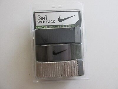 """Nike Golf Mens Big & Tall 3 IN 1 Web Pack One Size Fits Most Up To 52""""  New"""