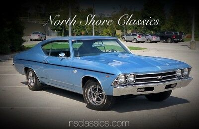 1969 Chevelle -SS396 Hurst 4 Speed-Factory Tach-VIDEO Blue Chevrolet Chevelle with 83,466 Miles available now!