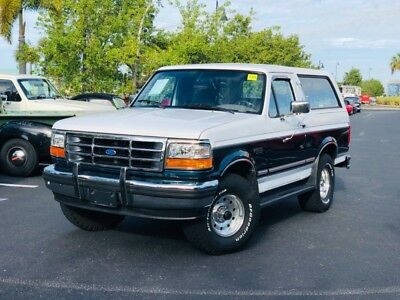 1995 Bronco -4x4 XLT CLEAN SUV PS PB AC FROM FLORIDA- 1995 Ford Bronco, White with 85,904 Miles available now!