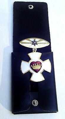 ODD FELLOWS IOOF REBEKAH ENAMEL MALTESE CROSS PIN Medal BROOCH NEW HAMPSHIRE