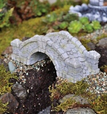 Miniature Fairy Garden Dollhouse Landscape Furniture Cobble Stone Bridge