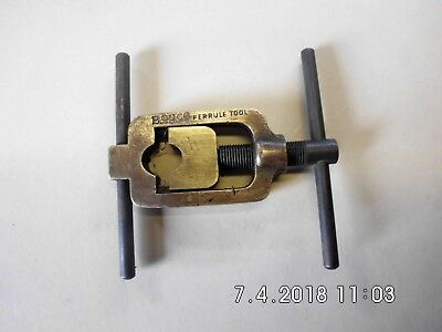 Vintage brass swaging/crimping tool in good used condition