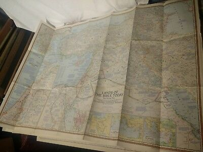 17 x National Geographical Maps of World 1940's 1950's Europe, Asia, Africa