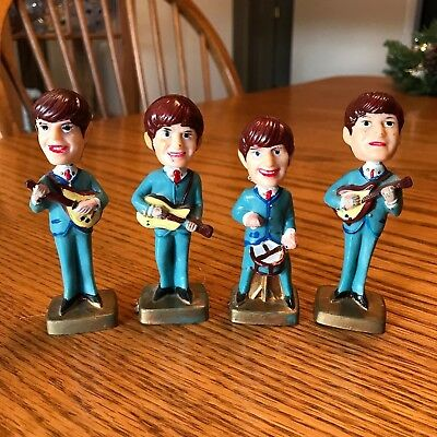 Beatles Bobble Head Cake Topper Set of 4