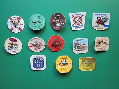 13   Avalon   And   Ocean   City   New  Jersey  Seasonal  Beach  Badges/tags
