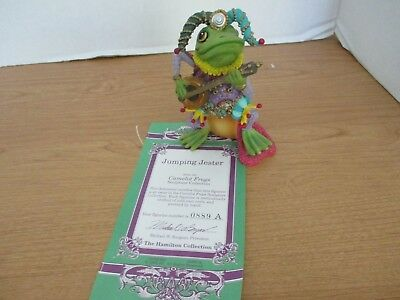 Hamilton Collection~1996 Camelot Frogs~JUMPING JESTER Figurine~#0889A w/ COA