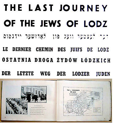 HOLOCAUST PHOTOBOOK Jewish GHETTO LODZ Israel HENRYK ROSS PHOTOS Yiddish ENGLISH