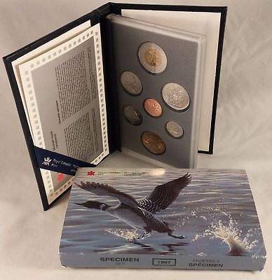 Canada 1997 Specimen Set 7 Coins Royal Canadian Mint Anniversary Loonie