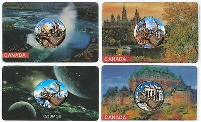2018 Canadian 25 Cents Coloured Caribou 4 Coin Set