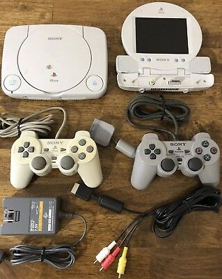 Sony PS One Console + LCD Screen Playstation Launch Edition White (SCPH‑101)