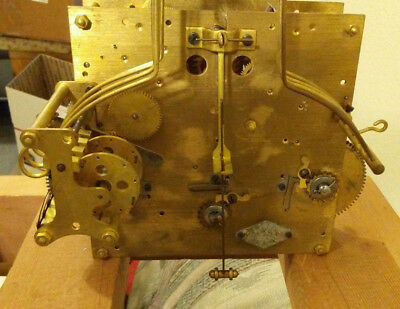 Vintage Brass Vedette Westminster Chime Clock Movement Works for Parts or Repair