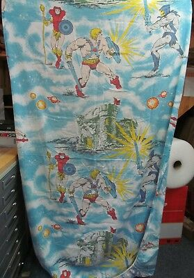 1983 Twin Fitted Sheet MOTU He-Man Bed Sheets Masters of the Universe