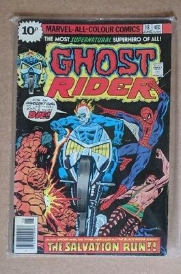 Marvel - Ghost Rider No.18,Spiderman, Thing FN
