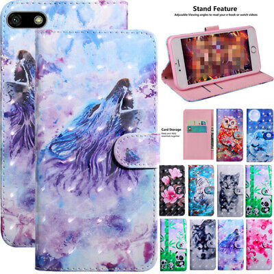 For Huawei Y6 Y7 2019 Y5 Prime 2018 Magnetic Leather Wallet Card Slot Case Cover