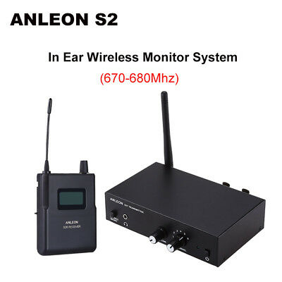 ANLEON S2 In-ear IEM UHF Stereo Monitor System Headphones Personal 670 - 680Mhz