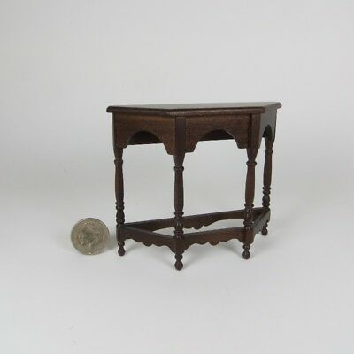 Miniature Dollhouse Period Gothic Credenza Console Table NICE  OOAK Artisan Made