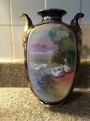 Antique Early 1900's Nippon Hand Painted Vase