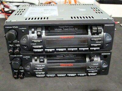 Nakamichi Mobile Tuner Deck  Power Port series - Deck 1 and Deck 3 - Both faulty