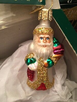 Old World Christmas Santa Ornament New