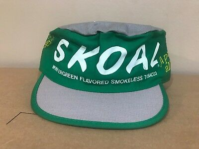 cbced3522 VINTAGE SKOAL CHEWING Tobacco United States Painters Cap Hat Copenhagen Dip