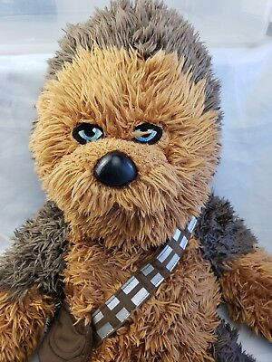 "Star Wars Chewbacca Build a Bear Wookie w/ Sound Plush Stuffed Animal  21""  Demo"