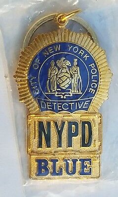 Official NYPD BLUE New York Police Department Badge Keychain - Exclusive Offer!