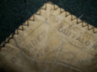 1910 Buffalo Robe Sleigh Blanket Dated & Antique Linens Marked /dated