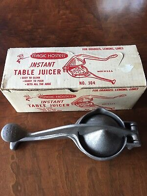 Vintage Magic Hostess Instant Table Juicer With Original Box