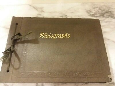 1920's Photo Album Antique Pictures Young Women and Men