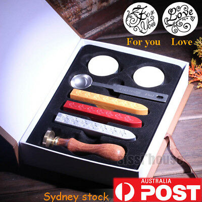 Vintage Seal Sealing Wax Stick Stamp Set For Letters Wedding Party Invitation
