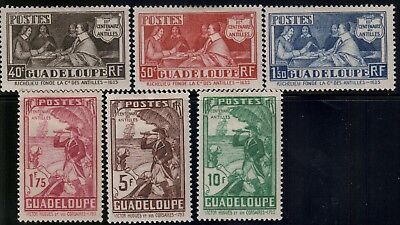 French Colonies,Guadeloupe,Scott#142-147,MH,Scott=$60