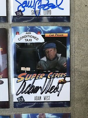 SIGNED Comic Book & Trading Cards By Adam West Batman 7+ Autographs Super Capers