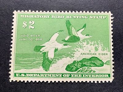 WTDstamps - #RW24 1957 - US Federal Duck Stamp - NG