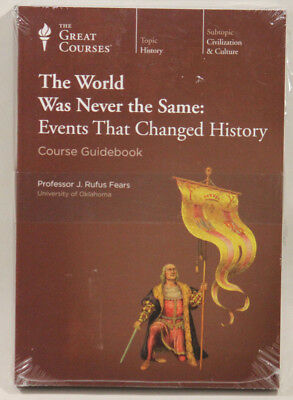 Great Courses World Was Never The Same: Guidebook & DVD  NEW SEALED