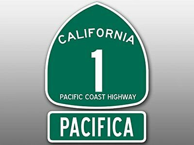 4x5.5 inch PCH 1 and PACIFICA Sticker (Highway ca rv sign san Beach Route Road)