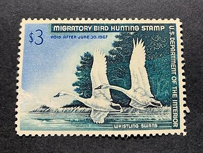 WTDstamps - #RW33 1966 - US Federal Duck Stamp - NG
