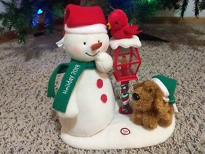 2013 Singing Snowman Merry Carolers Trio Hallmark Jingle Pals Christmas Plush
