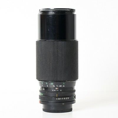Canon FD 70-210mm f/4 zoom lens with caps EX condition