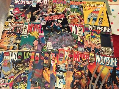 Wolverine #1 (Nov 1988, Marvel) & Lot Of 23