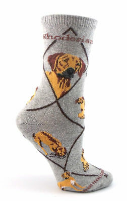 Rhodesian Ridgeback Dog Breed Gray Lightweight Stretch Cotton Adult Socks