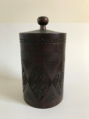 Vintage Russian Carved Wooden Humidor