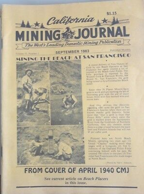 California Mining Journal Vintage Magazine September 1983 1 issue