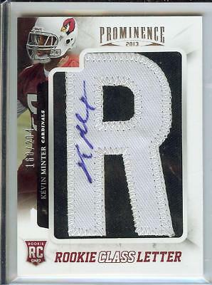 """2013 Panini Prominence Kevin Minter Rookie Auto Card, Letter """"R"""" - Free Shipping"""
