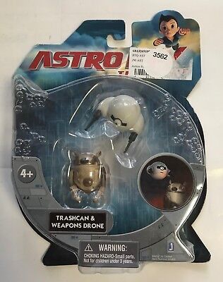 """2009 Astro Boy The Movie """"trashcan & Weapons Drone"""" Imagi Crystal Limited  #3562"""