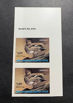 Ohio #OH17 1998 - State Duck Stamp - Mint OG NH ***Imperforated Pair*** Crease