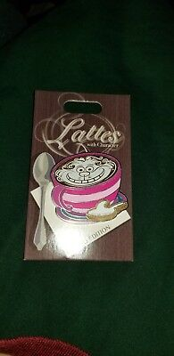 Cheshire Cat Lattes With Character Alice In Wonderland Latte Pin HTF Disney Pin