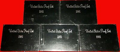 RARE! 1981 S Proof Set of 5 Original Special Type 2 Coins US Mint ALL COINS
