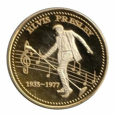 1 oz Elvis Presley round Gold Plated coin. Uncirculated